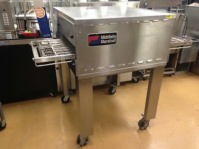 """Middleby Marshall Conveyor Pizza Oven Natural Gas 18"""" Split Belt on Stand"""