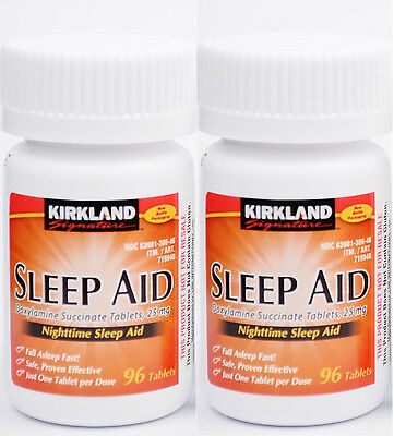 Kirkland Sleep Aid (Doxylamine succinate) 25 mg 192 Tablets, Expiration 02/2020