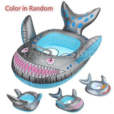 25'' Inflatable Shark Baby Ring Boy Girl Child Infant Swimming Pool Seat Float