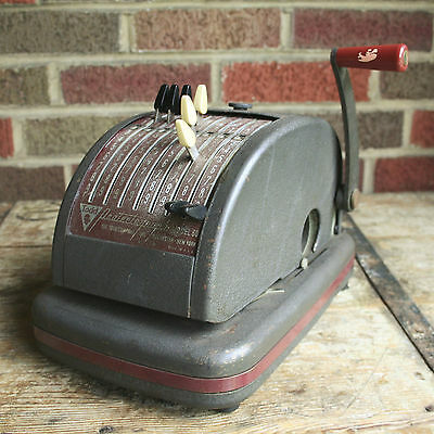 Vintage~Antique~Todd Protectograph~Working See Photos~Industrial~Steampunk~Metal