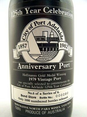 1979 HOFFMANS Port Adelaide 125th Port Isle of Wine