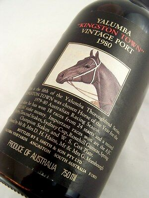 1980 YALUMBA Kingston Town Vintage Port FREE SHIP Isle of Wine