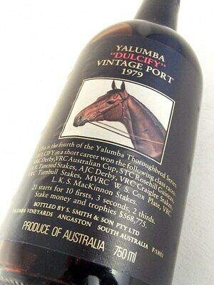 1979 YALUMBA Dulcify Vintage Port FREE SHIP Isle of Wine