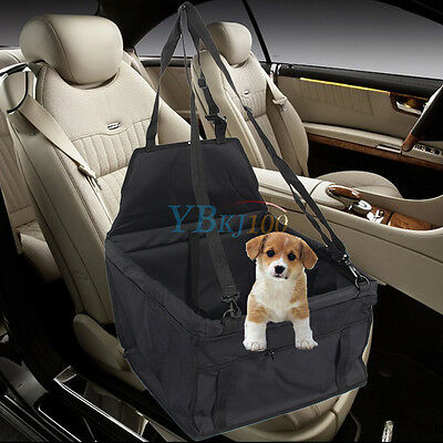 New Pet Car Booster Seat Soft Safety Dog Cat Puppy Carrier Cage Travel Bag Black