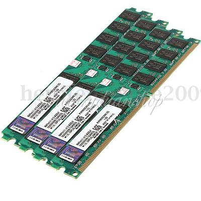 4x2G 8GB Memory RAM PC2-6400 DDR2 800Mhz 240 Pin DIMM For Desktop PC AMD Only AU