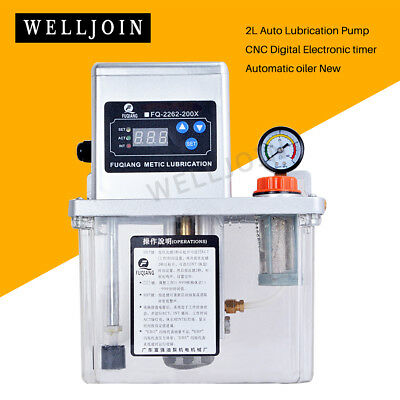 2L  Auto Lubrication Pump CNC Digital Electronic timer Automatic oiler New
