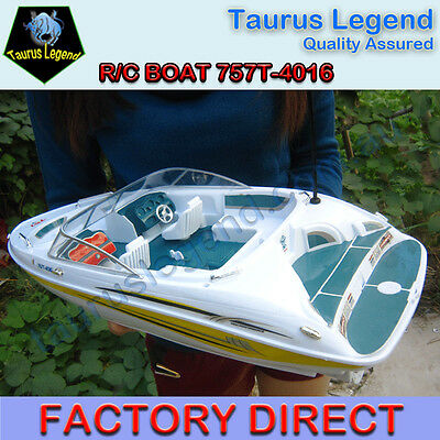 Large 1/25 Scale Real Looking Remote Control Boat Yacht Watercraft Kids Gift