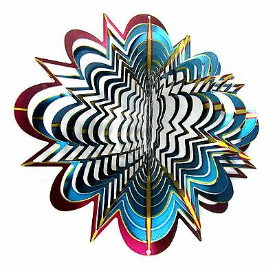 "Shipityourway 12"" 3D Wind Spinner Hyper Splash Star Lawn Yard Twister Decor"