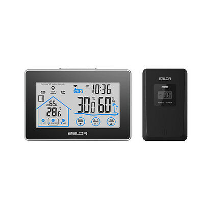Touch Screen Wireless Weather Station Outdoor Thermometer Hygrometer Humidity