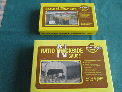 N Gauge  2 Ratio Kits Steel Truss Span And Corrugated Line Building