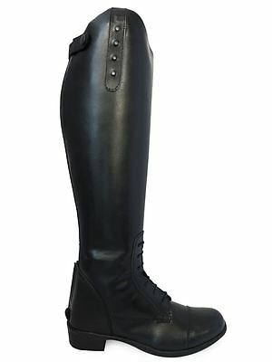 Ladies Tall Equestrian Riding Show Dressage Regular Wide Equi-Leather Boots 3-10
