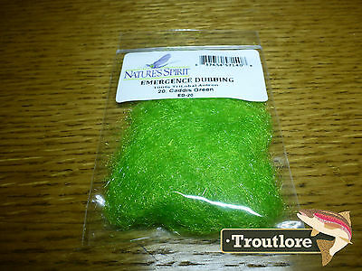 Natures Spirit Caddis Green Emergence Antron Dubbing New Fly Tying Material
