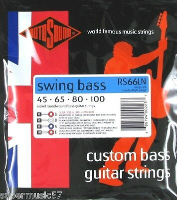 Rotosound RS66LN Swing Bass Guitar Set Nickel Roundwound 45-100 Gauge Long Scale