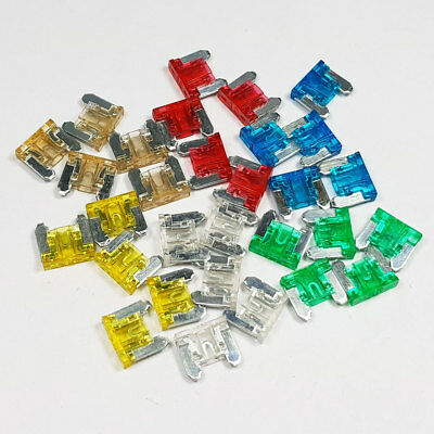 30 Piece Micro Blade Fuse Assorted Kit Mixed Low Profile Mini Car Truck Auto