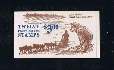US BK152 (1988) - Jack London - Complete Booklet Postage Stamp Issue