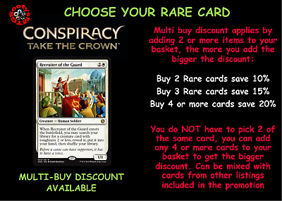 MTG Conspiracy Take the Crown CN2 - Choose your Rare Card - Free 1st Class Post
