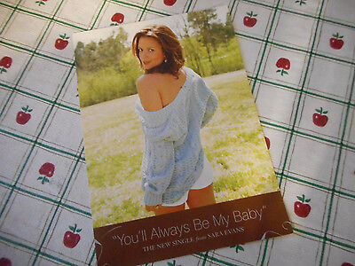 Sara Evans You'll Always Be My Baby Song Release Announcement Photo Postcard