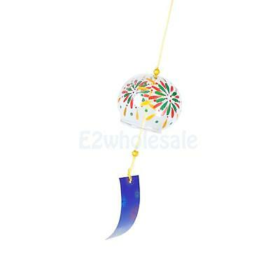 Japanese Glass Wind Chime Wind Bell Hanging Ornament Window Garden Decor #5