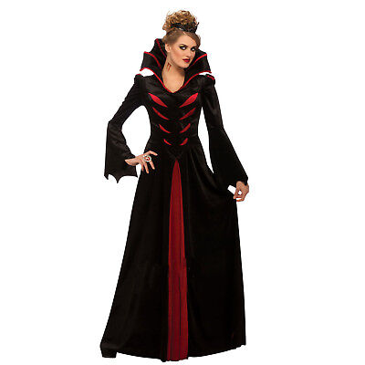 Womens Queen Of The Vampires Rubies Adult Halloween Witch Fancy Dress Costume
