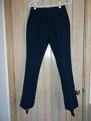"BOGNER VINTAGE Navy Blue Wool & Nylon Zip & Latch Ski Snow Pants Size 27""/28.5"""
