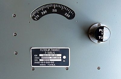 225 to 400 MHz 100 watt tunable bandpass filter. Tested and guaranteed.