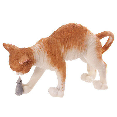 Decorative Cat Playing with Mouse Figurine
