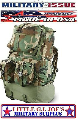 NEW Military Issue Rucksack Backpack Woodland Camouflage Mounted Crewman Pack
