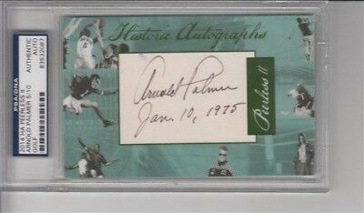 2014 HA Historical Autographs Peerless II Arnold Palmer 5/10 PSA/DNA