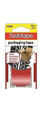 Sellotape 48Mm X 20M Clear Packaging Tape Tyre Track Print X 4 New