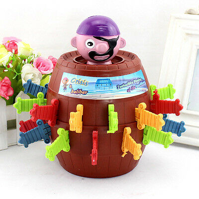 Toy Barrel Game Funny Pirate Kids Children Lucky Exciting PopUp Gadget Stab