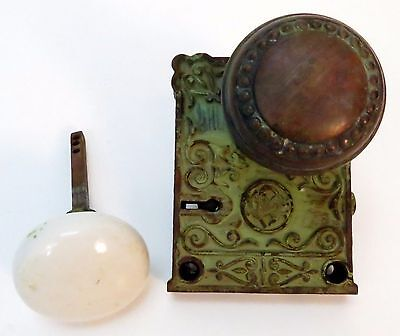 Antique Brass Door Knob and Key Plate from Arizona Military Fort circa 1860s