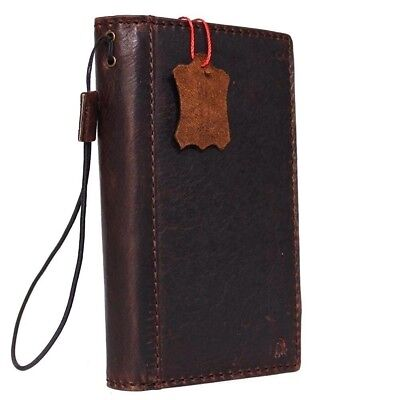 genuine vintage leather for lumia 950xl Case book wallet handmade cover magnet R