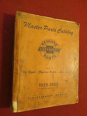1929-1953 Chevrolet Master Parts & Illustration Manual:1948-1949-1950-1951-1952