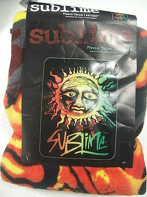 """New Sublime 40 Oz To Freedom Sun Face Band Plush Fleece Throw Bed Blanket 45X60"""""""