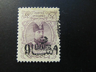 1904 - Persia - Surcharged In Black - Scott 402 A27 9C On 1K