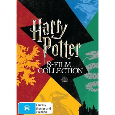 Harry Potter Complete DVD Box set 1 2 3 4 5 6 7 8 - 8 Movies R4 Limited Edition