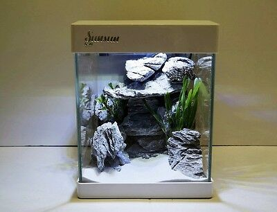Nano Aquarium G-20 en blanc Aquarium complet Mini- +LED éclairage
