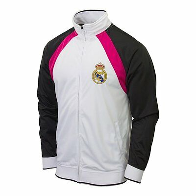 REAL MADRID Track Jacket Official Merchandise Unique Style ADULT, SHIPS SAME DAY