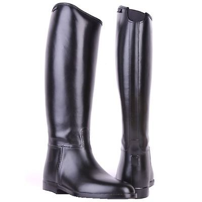 HKM Mens Elasticated Insert Waterproof Spur Support Standard Horse Riding Boots