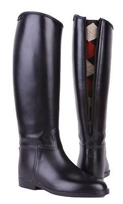 HKM Equestrian Mens Long & Wide Zip Waterproof Easy Clean Horse Riding Boots