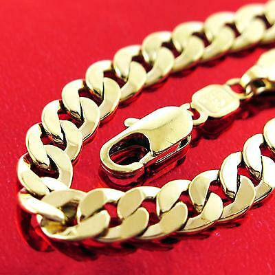 An765 Genuine Real 18Ct Yellow G/f Gold Solid Mens Unisex Curb Necklace Chain