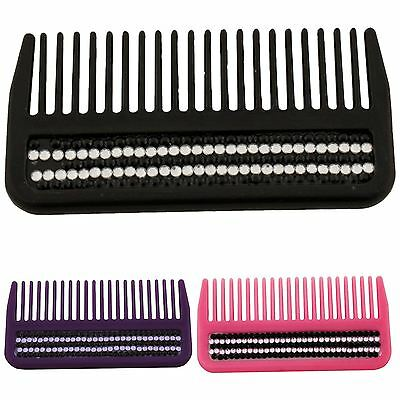 Horka Equestrian Glitter Stass Stones Mane Comb Horse Grooming Accessories