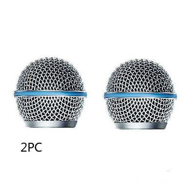 2 pcs New Replacement Ball Head Mesh Microphone Grille for Shure BETA58 SM58