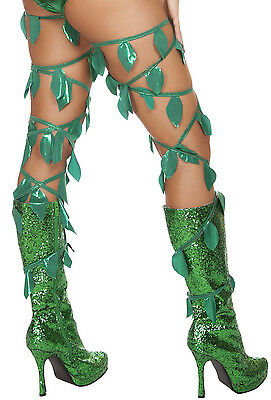 Rave Thigh Wrap EDC Leg Wrap Green Leaf Legwraps Green leaf Thigh Wrap Roma 4642