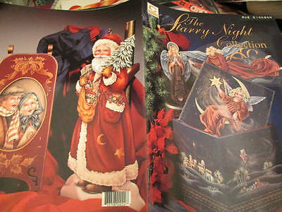 Starry Night Collection Painting Book-Stewart- Angels/Santas/Victorian Carolers/