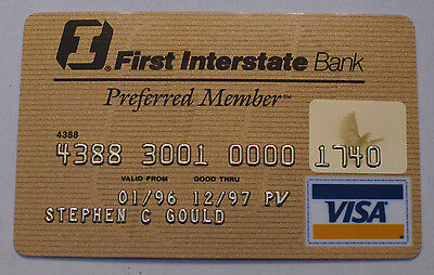 First Interstate Bank Preferred Member Visa Credit Card - Expired Collectible