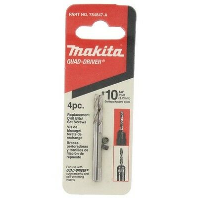 "MAKITA 784847-A Quad-Driver Countersink  #10 1/8"" 3,2mm Replacement Drill Bits"