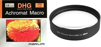 Marumi 58mm 58 DHG Macro +5 200 Achromat Achromatic Close up Lens made in Japan