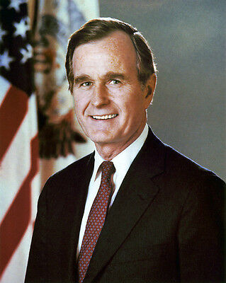 41st US President GEORGE H W BUSH Glossy 8x10 Photo Poster Political Print