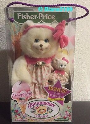 NIB Briarberry Collection Ashleyberry w/ Mini & Storybook Fisher Price Bear New